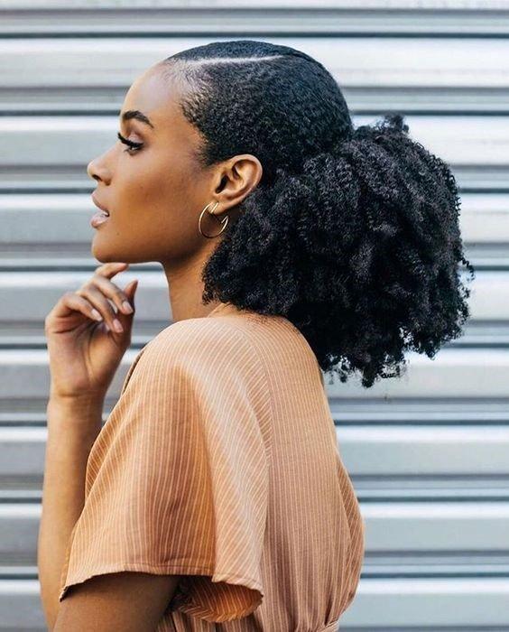 graduation hairstyle - afro bun hairstye