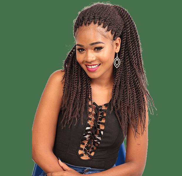 African Hair Crochet Braid-PENCIL MAMBO LONG