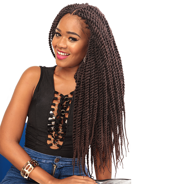 African Hair Crochet Braid-PENCIL MAMBO LONG
