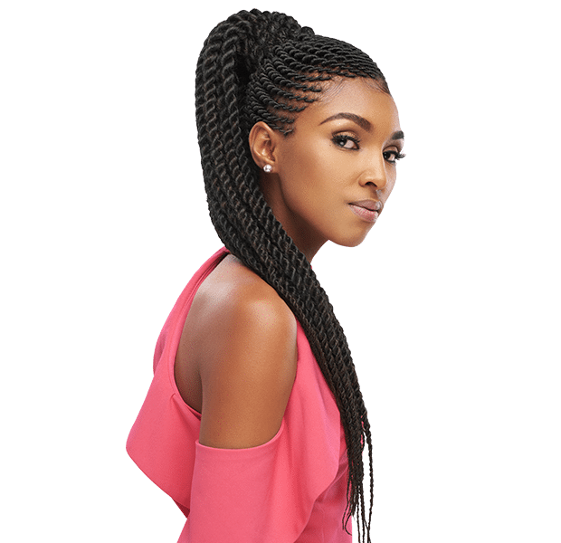 long pamoja braid hairstyle - inexpensive and great for weave or crochet lines