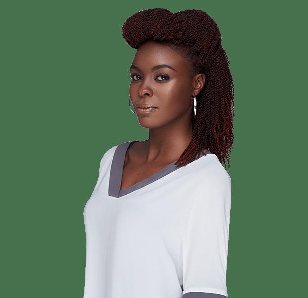 African Hair Crochet Braid-PENCIL KINKY