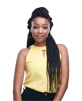 long Abuja braid for the silky texture braid style
