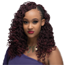 mambo curl braided crochet hairstyle - A kinky finish weave with a loop for easy crocheting