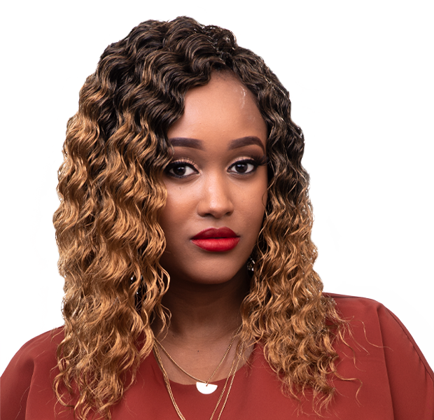 Milky Weave hairstyle - A wavy weave style with beautiful colors