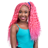 Long pink Abuja braid hairstyle