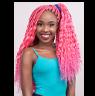 Long pink Abuja braid hairstyle