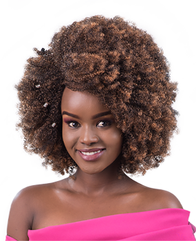 afro diva weave hairstyle