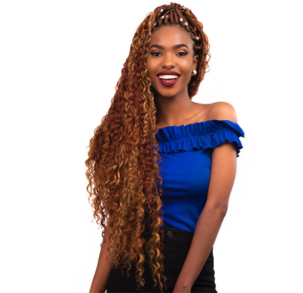Long Abuja braid hairstyle