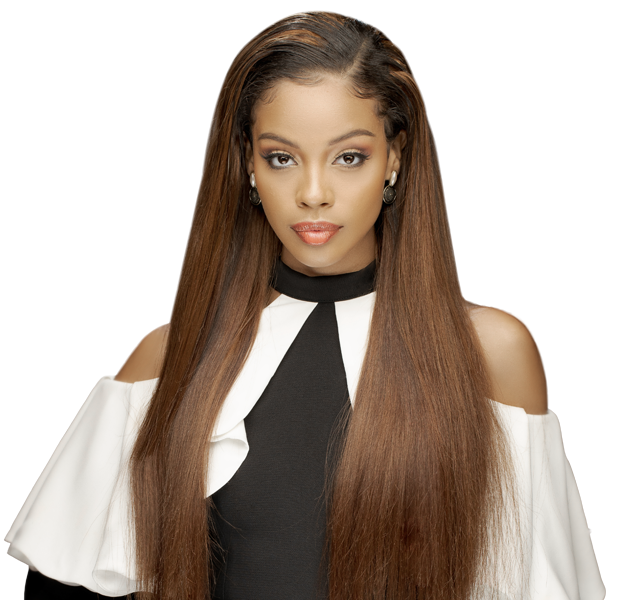 Empress silky straight weave hairstyle