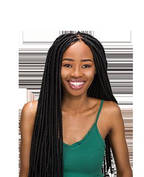 Bantu Locks on young African Lady