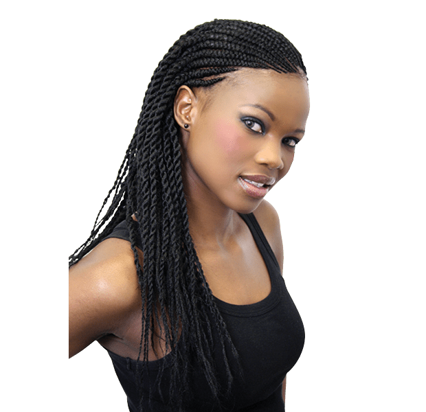 Lula Braids on styling lady is lightweight and good for cornrows.