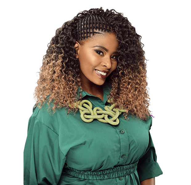 Classic Kinkyt hairpiece with spring curls with natural textur