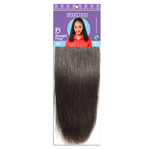 Straight Pony with drawstring attachment is the latest hairpiece