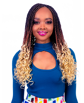 Pre-Curled Braid Crochet hairstyle with Darling Hair Africa